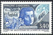 Andorra 1991 Mozart/Composers/Music/Instruments/People/Opera/Animation 1v n42698