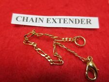 5 INCH 14KT GOLD EP  2MM FIGARO CHAIN  EXTENDER FOR FINE CHAINS
