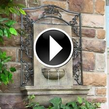 Outdoor Wall Floor Fountain Garden Water Feature Fountains Patio Waterfall Decor