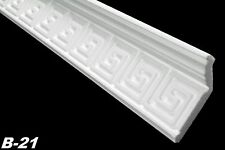 10 Metros Molduras Poliestireno Perfil Decoración Interior Estuco 28x73mm, B-21
