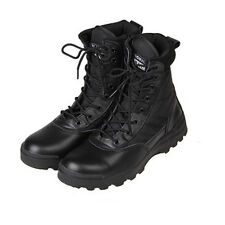 Men Tactical Combat Top Boots Desert Hiking Leather Ankle Work Shoes Sizes 7-10