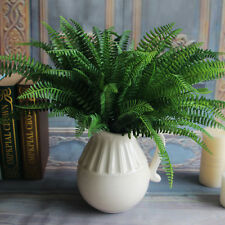 Green Artificial Fern Bouquet Silk Plants Fake Persian Leaves Foliage  Decor WK