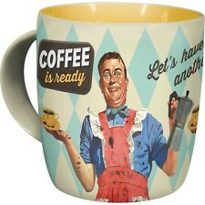 Nostalgic Art Coffee is ready  50er retro Rockabilly Tasse in stabiler Kartonver