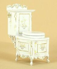 Dollhouse Miniature GRAND TRADITION BATHROOM COMMODE 3452-BWT Bespaq Direct