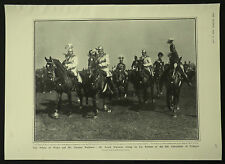 George V His Regiment 8th Cuirassiers Cologne Germany 1908 1 Page Photo Article
