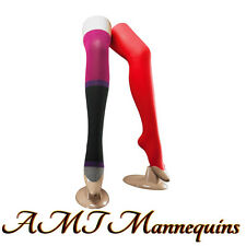 2 Female mannequin leg, plastic body form feet, removable.stand, 2 Skintone Legs