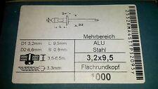 1000 Mehrbereich Blindniete 3,2x9,5 Alu/Stahl klemmt 3,5-6,5mm Sonderangebot