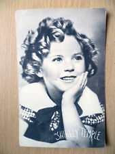 Real Photo Postcard- SHIRLEY TEMPLE with printed Autograph,Fox Studios,Californi