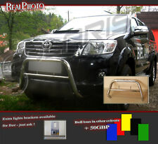 TOYOTA HILUX 2013+ LOW BULL BAR, NUDGE BAR, A BAR + GRATIS!!! STAINLESS STEEL