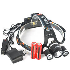 10000LM XM-L T6 LED Linterna Frontal Headlamp 18650 EU/CAR Cargador caza Pesca