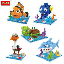 HSANHE Anime Finding Nemo Marlin Dory Nano Block Diamond Mini Building Toy 5 Pcs