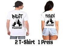Best Friends T Shirt Partner Look 2 Stück Varianten Viele Farbe XS - 5XL New