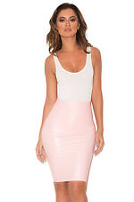 "HOUSE OF CB 'Sofia' Baby Pink Latex Pencil Skirt ""Faulty"" MM 8814"