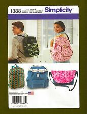NEW! Simplicity Pattern #1388 ~ Backpack in 4 Styles & Messenger Bag