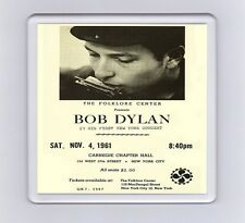 Vintage Music Concert Poster Drink Coaster - Bob Dylan, First New York Concert