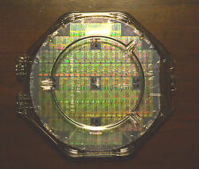 "6"" Silicon wafer - Performance Semi R4000 MIPS CPU wafer with a clear case."