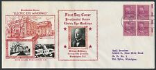 "#829 ""WILLIAM MCKINLEY"" ELECTRIC-EYE ISSUES ON CROSBY FDC CACHET BR2583"