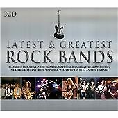 Latest & Greatest Rock Bands (2011 3-CD) RUSH asia LIZZY kiss QUO / FREE UK P&P