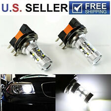 2x HID White 50W H15 CREE LED Bulbs For Audi BMW Mercedes VW Daytime Lights Lamp