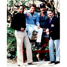 Magnum P.I. Roger E. Mosley, Tom Selleck with Others8 x 10 Inch Photo