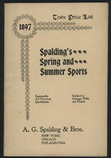 1897 SPALDING Spring/Summer Sports,Trade Price List Cat