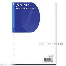 Filofax Insert A5 White Plain Paper 342405