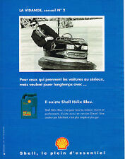 PUBLICITE ADVERTISING 114  1995  SHELL  huile HELIX  BLEU
