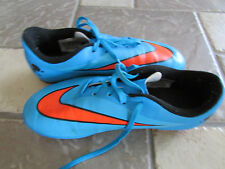 NIKE  SOCCER SHOES BRIGHT BLUE SOCCER CLEATS SIZE 6 HYPERVENOM FREE SHIP