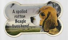 Small Dog Bone Shaped Wooden Plaque Spoiled Rotten Beagle Made Usa