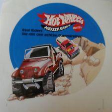 Aufkleber Mattel HOT WHEELS Real Riders 80er JEEP CJ Sticker Autocollant
