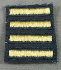 US Army Female Overseas Service Stripes 2 Years / Gold On Green