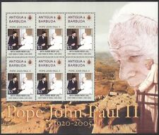 Antigua 2005 Pope John Paul II/People/Religion/People/Popes 6v m/s (n40154)