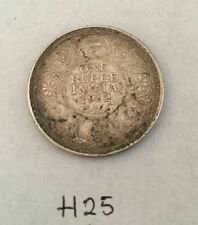 Antique Fine Silver One Rupee British India 1912 King George Coin H25 Uncleaned