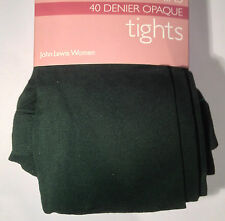 Job lot of John Lewis super luxury opaque tights, 60 denier, green, small x 9