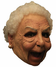 Chinless Old Nanny Mask Latex Grandma Halloween Adult Costume Accessory