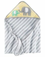 New Carter's Hooded Bath Towel Happy Elephant Mom & Baby Terry Material NWT