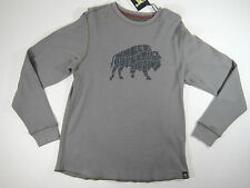 Solaris Mens Gray Long Sleeve  Casual Thermal Graphic Shirt Sweater Size Large
