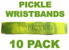 10 PACK - PICKLE LOVE WRISTBANDS - I HEART PICKLES - SILICONE WRISTBAND BRACELET