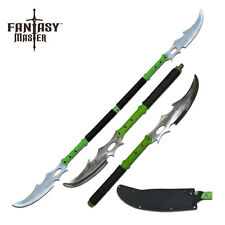 Double Bladed Zombie Oriental Naginata Sword Separates to Make 2 Swords #054BK
