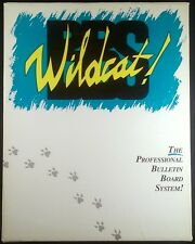 Wildcat! BBS Professional Bulletin Board System IBM/PC Mustang~1991 Complete!