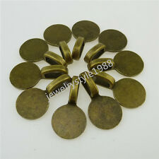 12605 50PCS Bronze 10mm Round Glue on Bails Setting Bail FOR Necklace Pendant