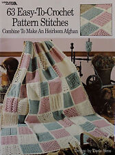 63 Easy-To-Crochet Pattern Stitches, Sampler Heirloom Afghan Pattern Book LA 555