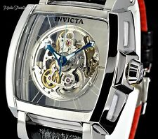 Invicta Reserve Men's 48mm SAPPHIRE GHOST Swiss Automatic Leather Strap Watch