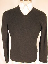 Theory Mens Charcoal Vneck 100% Cashmere Sweater M
