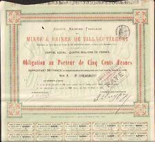 Mines & Usines de VILLAGUTIERREZ (ESPAGNE 1872) (N)