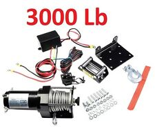 3000 Lb 4-Wheeler Winch 12V Plow ATV Truck Trailer Lbs Pound