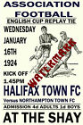 HALIFAX TOWN - VINTAGE 1920's STYLE MATCH POSTER