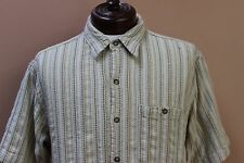 The Territory Ahead SS Button Front Shirt Textured Stripes size Large Hong Kong