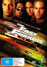 The Fast And The Furious(Disc Only Comes In Clear Case)  DVD Region 4 (VG Con)