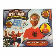MARVEL ULTIMATE SPIDER MAN web-warriors Kids Face Paint Set DIVERTENTE PARTY REGALO NUOVO